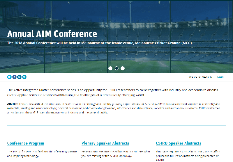The CSIRO AIM annual conference home page.