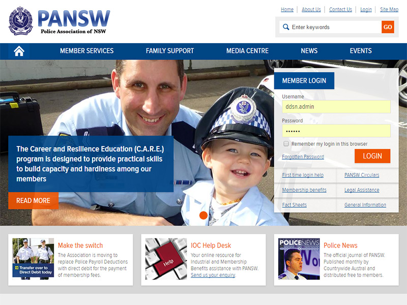 The PANSW home page