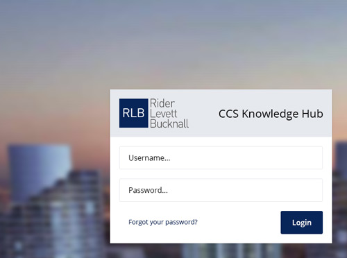 Screenshot ofCCS Knowledge Hub
