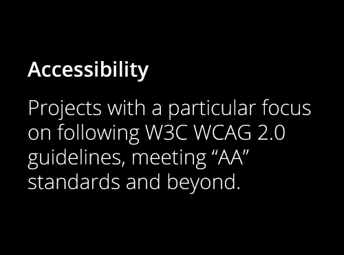Screenshot ofWCAG 2.0 Accessibility Standards