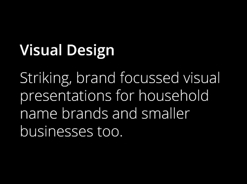 Screenshot ofVisual Design
