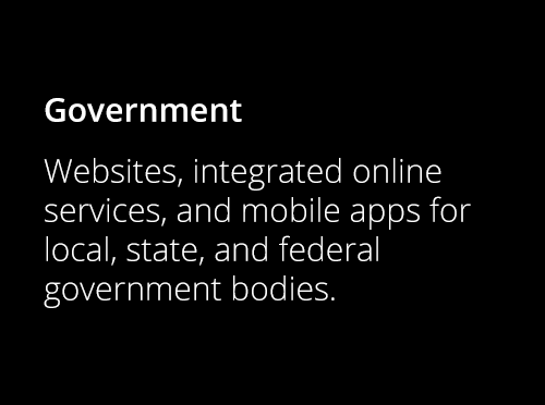 Screenshot ofGovernment Digital Projects