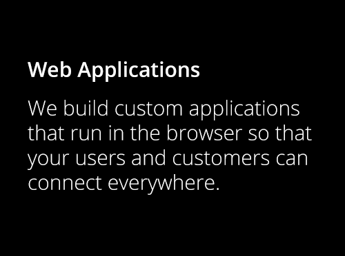 Screenshot ofCustom Web Applications