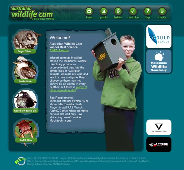Wildlife Cams home page